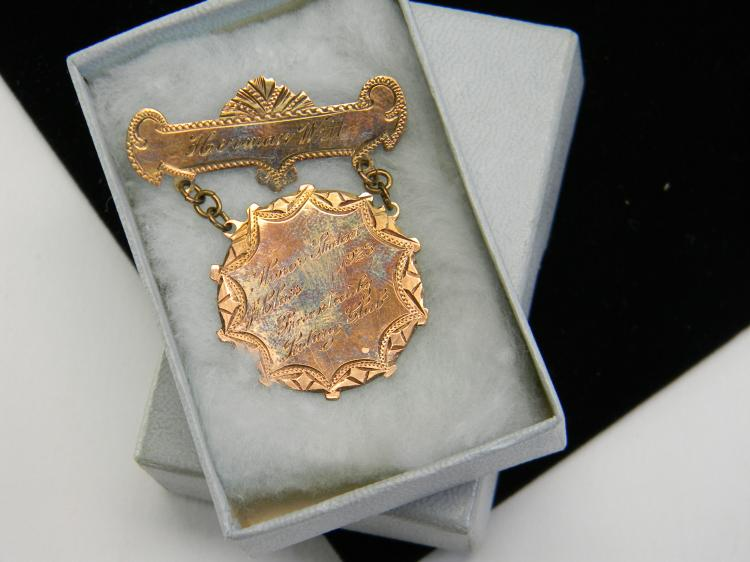 "1923 Gold Filled Rotary Club ""Jr. Class"" Pin"