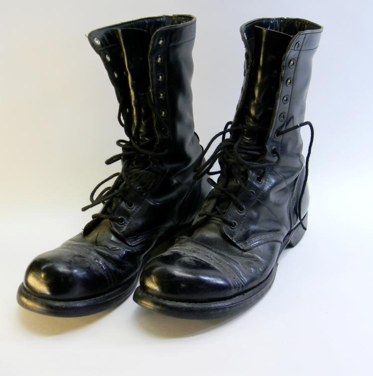 "Vintage Corcoran Leather Army ""Jump"" Boots Sz 9.5"
