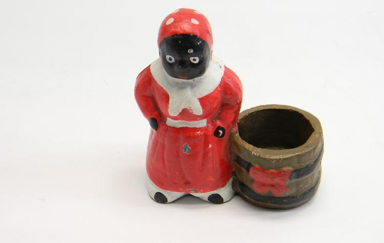 "Black Americana Cast Iron ""Woman"" Figurine"