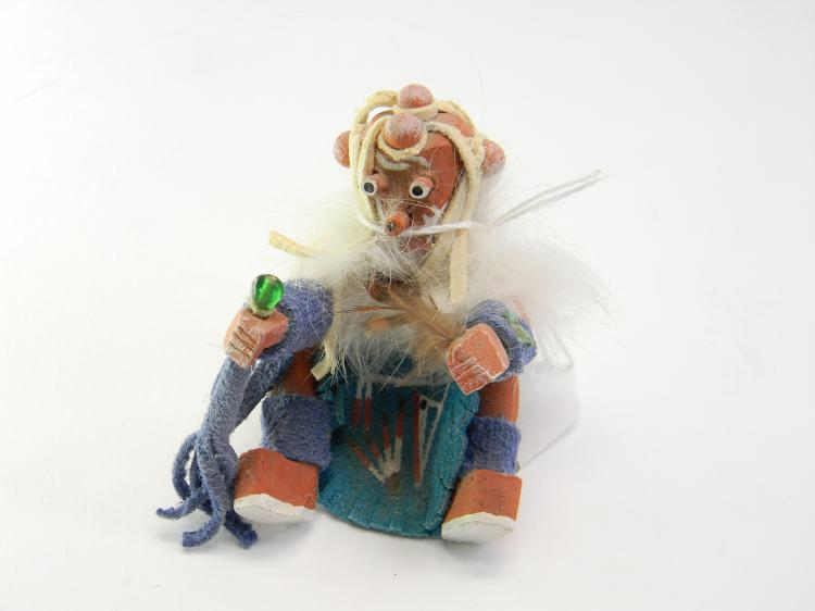 Small Navajo Signed WD Carved Kachina