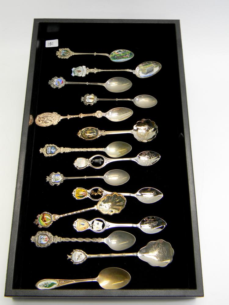 Vintage Souvenir Collectable Spoon Lot Of 15