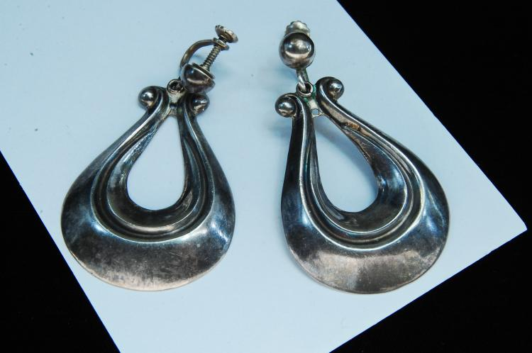 Vintage 15g Sterling Silver Taxco Mexico Earrings
