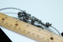 Lot 16: Vintage Sterling Handmade Signed Climbing Monkey Bolo Tie