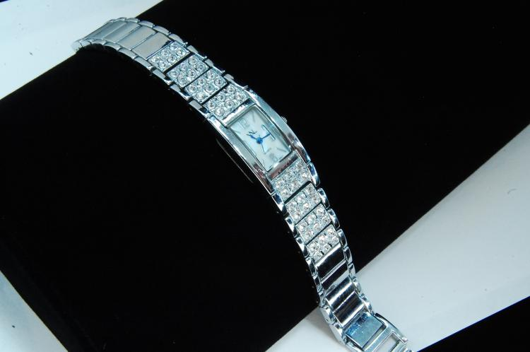 Via Nova Rhinestone Ladies Dress Watch
