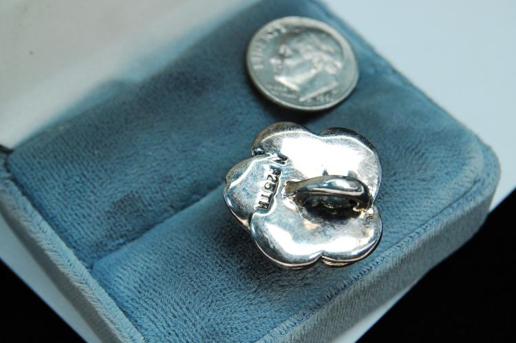 Lot 31: Vintage Sterling Silver Rose Pendant