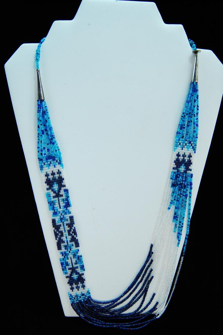 Lot 39: Native American Navajo Handcrafted Seed Bead Necklace