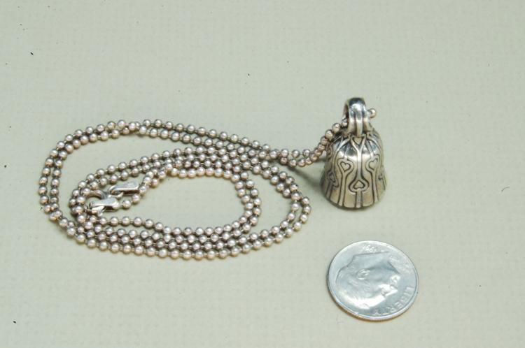 12g Sterling Gordon R Barnett Bell Necklace