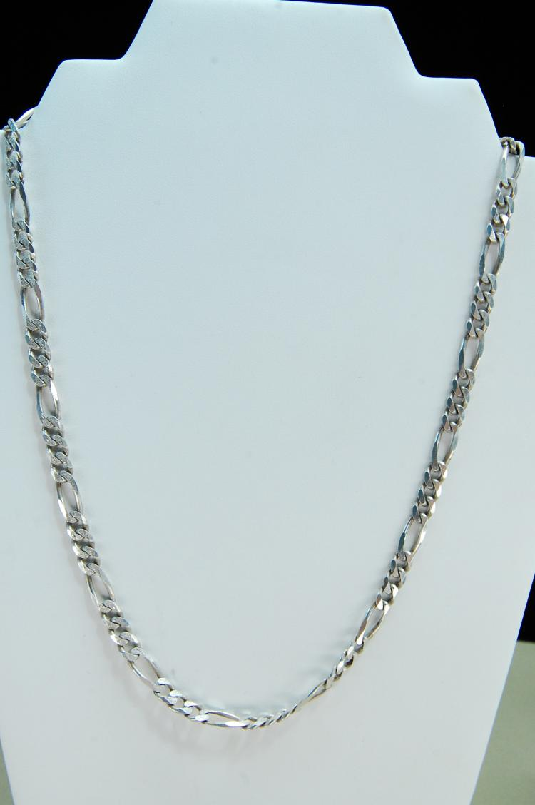 33g Sterling Silver Curb Style Chain Necklace