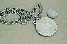 Lot 67: Vintage 22.5g Sterling Silver St George Necklace