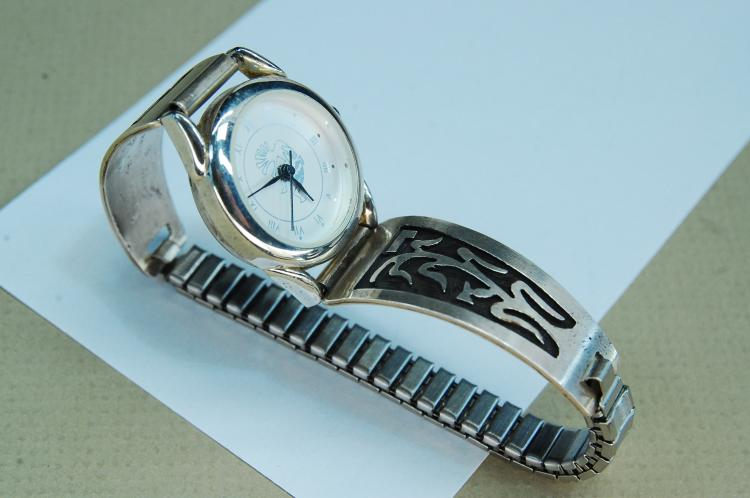 Vintage Sterling Silver Hopi Ladies Watch Tips