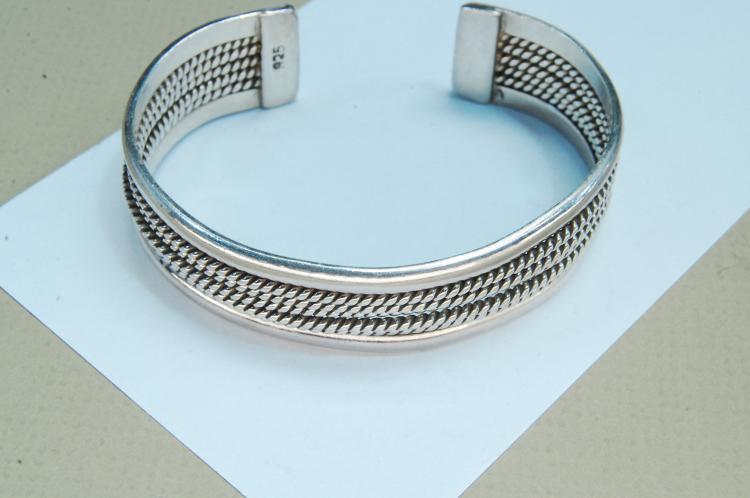 Vintage 36g Sterling Silver Cuff Bracelet