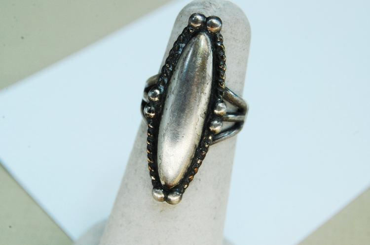 Vintage Sterling Silver Navajo Ring Size 5