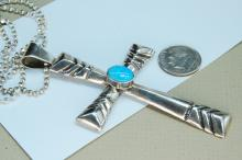 Lot 165: 31g Sterling Created Opal Frances Begay Necklace