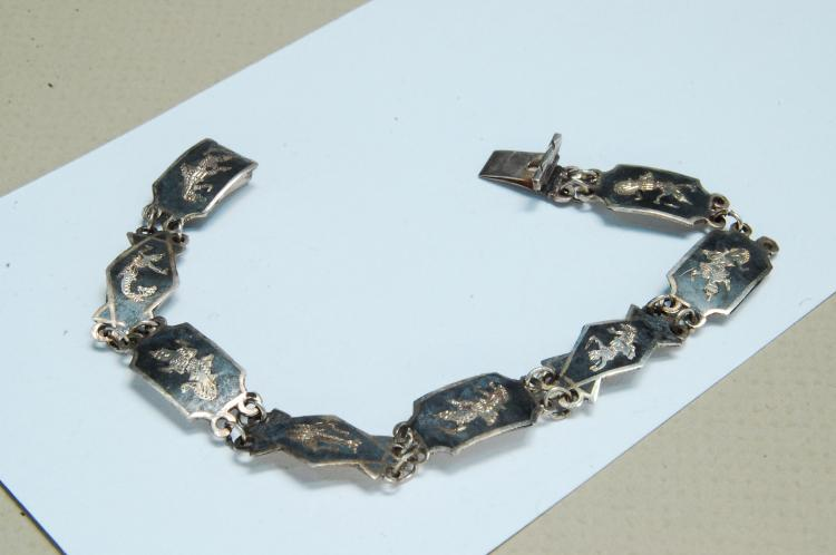 Vintage 6.5g Sterling Siam Dancer Bracelet
