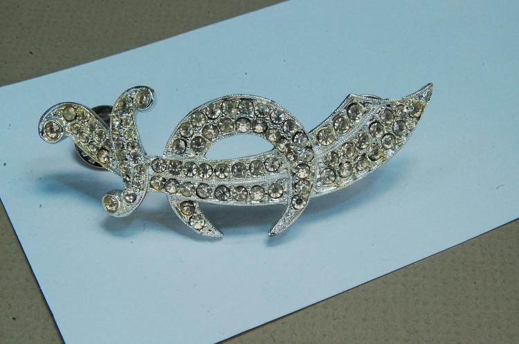 Costume Jewelry Rhinestone Shriners Hat Brooch Pin