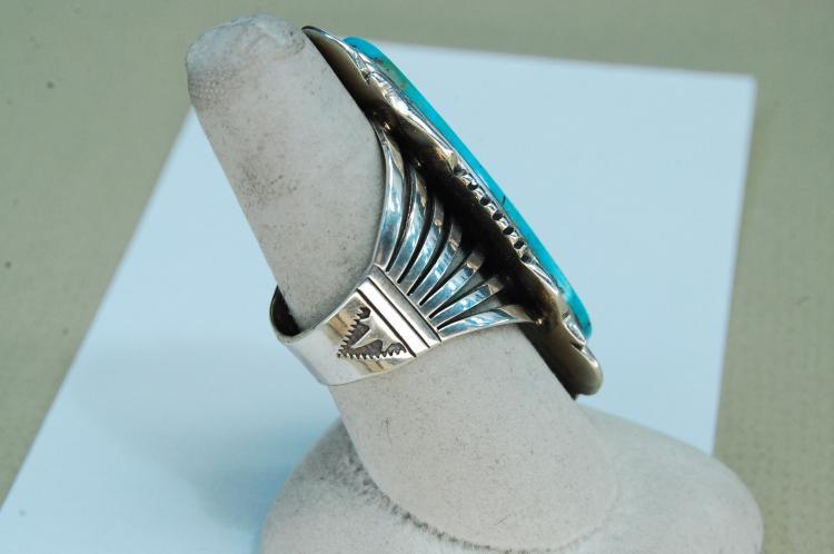 Lot 178: Vintage 16g Sterling Signed Denetdale Ring Size 9