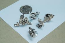 Lot 180: Vintage Sterling Marcasite Shiners Tie Pin Lot