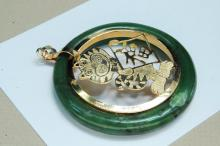Lot 186: Vintage Jade Year Of The Tiger Pendant