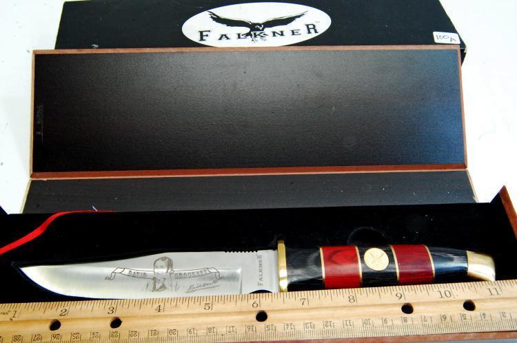 Lot 100A: Falkner Limited Edition David Crockett Knife