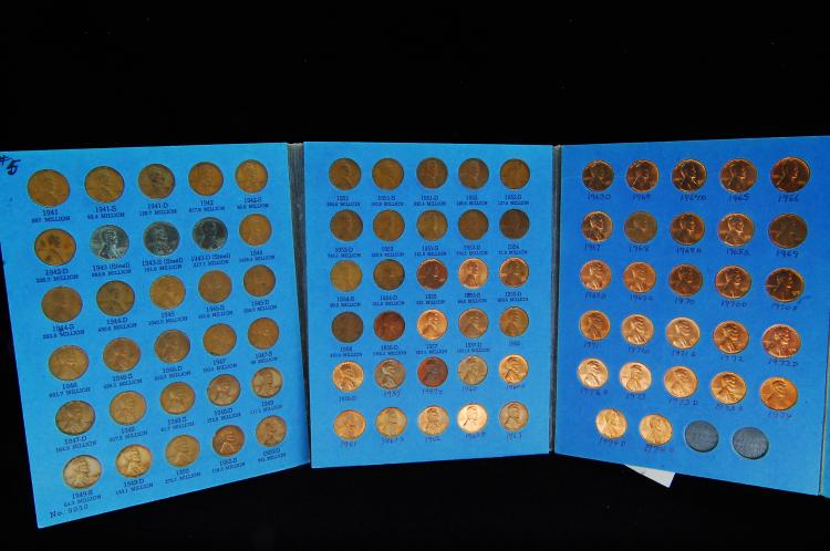 1941-74S Lincoln Head Cent US Coin Folder #2