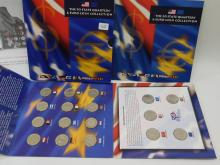 2002 United States Mint 50 State Quarters And Euro Coin Collection Set