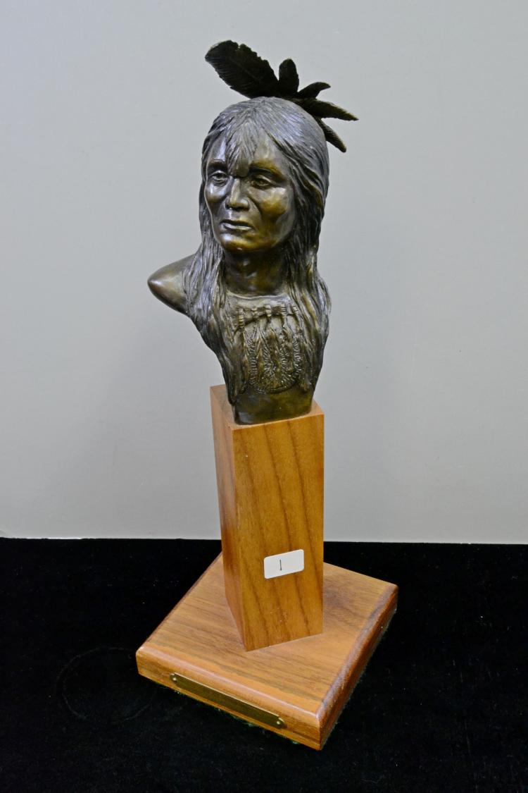 Chris Navarro Signed And Numbered Blackfoot Bronze Sculpture