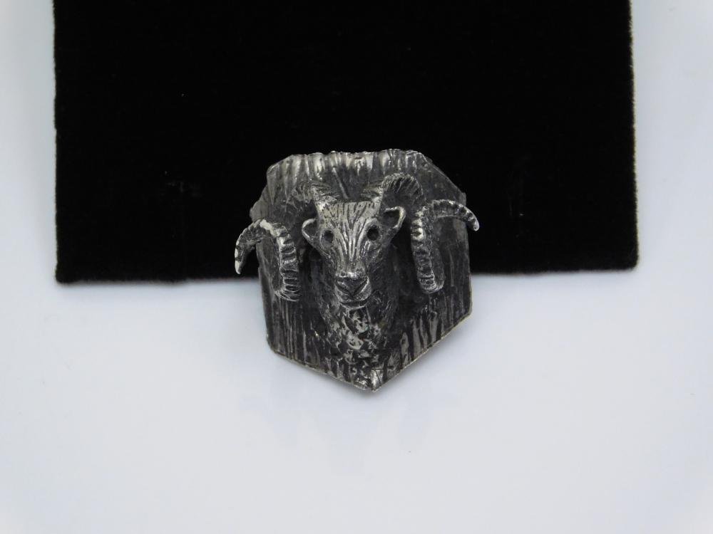 Vintage Handmade Sterling Silver Bighorn Sheep Bolo Tie 13.5G