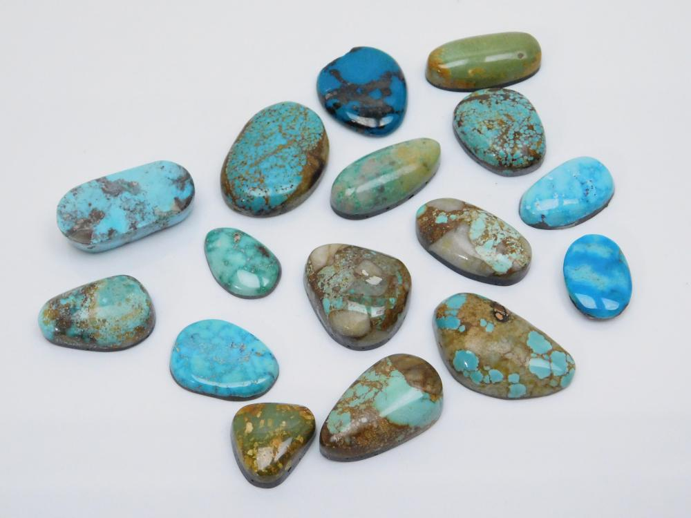 Lot Of Cut & Polished Turquoise Cabachons For Jewelry Making