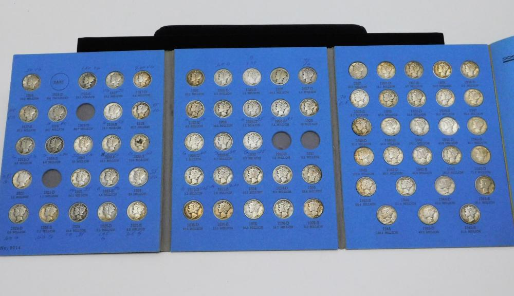 Lot Of 72 Vintage 1916 To 1945 Us Mint 90% Silver Dime Collection Missing 5 To Complete