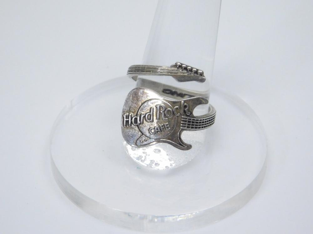 Vintage Sterling Silver Hard Rock Cafe Guitar Bypass Ring 5G Sz9