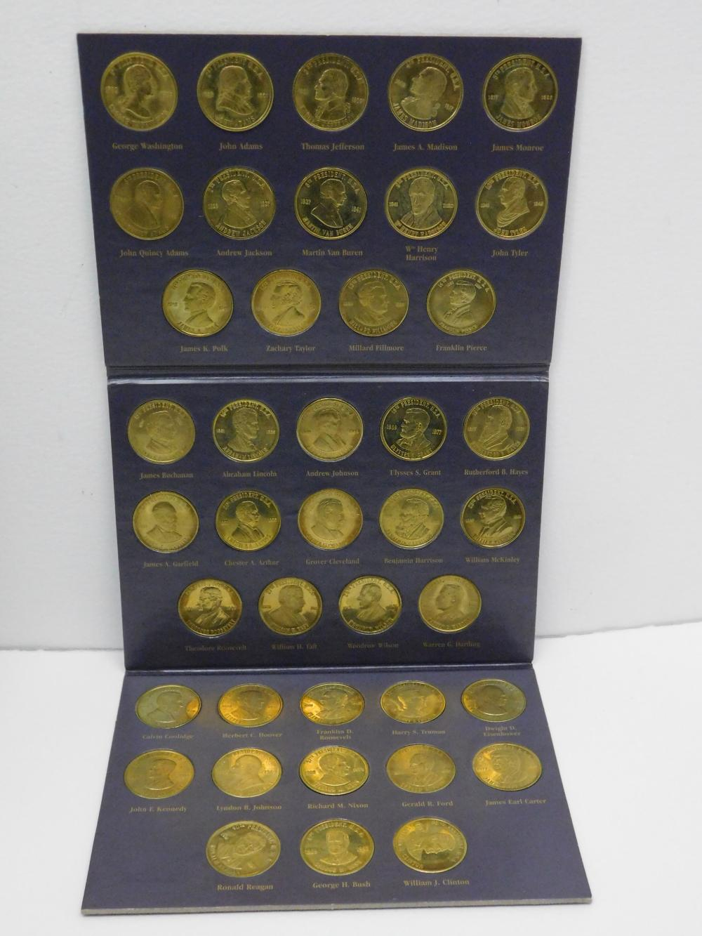 Vintage A Coin History Of The Us Presidents Complete Set In Collectors Book
