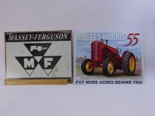 Lot 1: Massey-Harris & Ferguson Tractor Tin Sign Lot Of 2