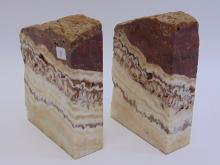 Lot 3: Natural Alabaster Book Ends
