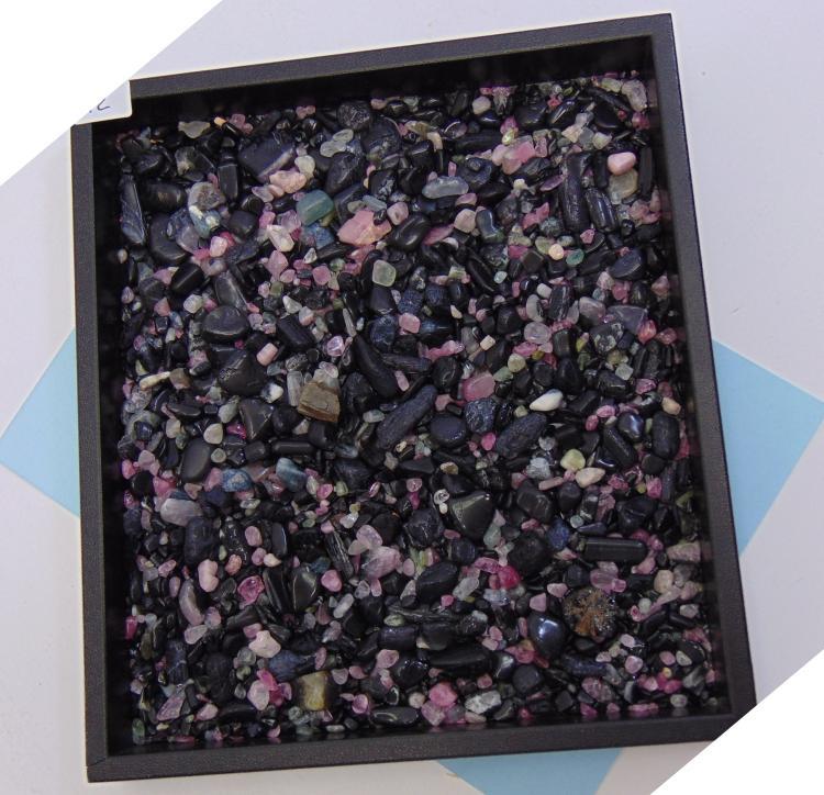 Natural Tumbled Tourmaline Specimen Pebble Lot