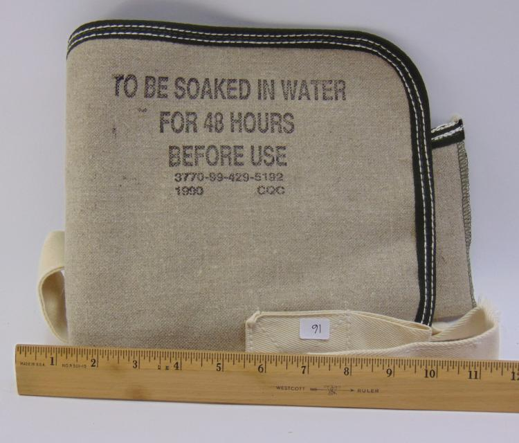 Unused Canvas Car Radiator Water Bag