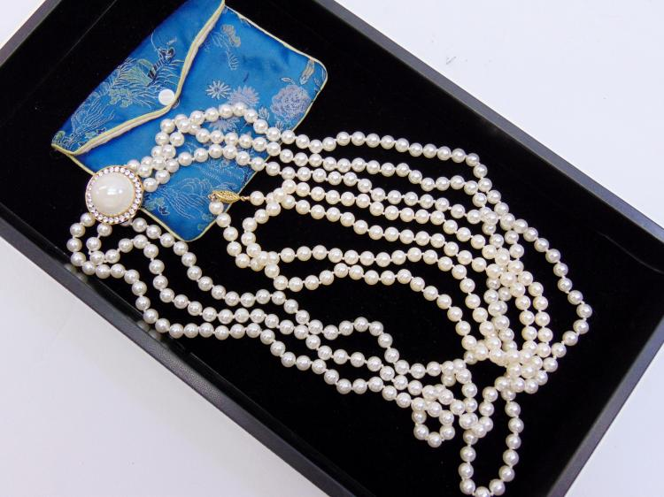 Lot 25: Vintage Faux Pearl Strand Lot Of 2