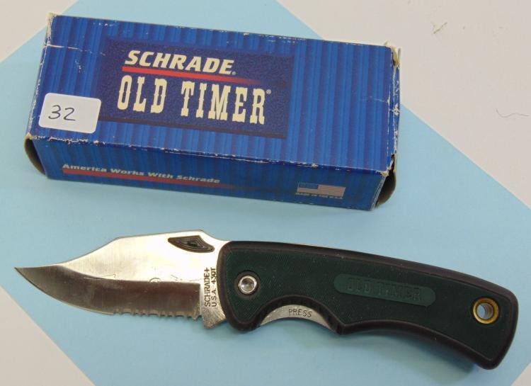Unused Schrade+ 430T Old Timer Pocket Knife
