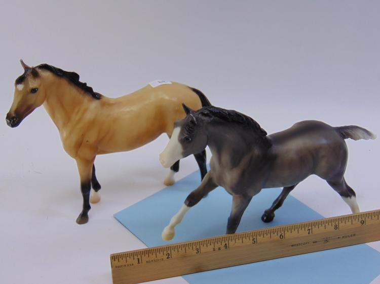 Vintage Breyer Plastic Toy Horse Lot Of 2