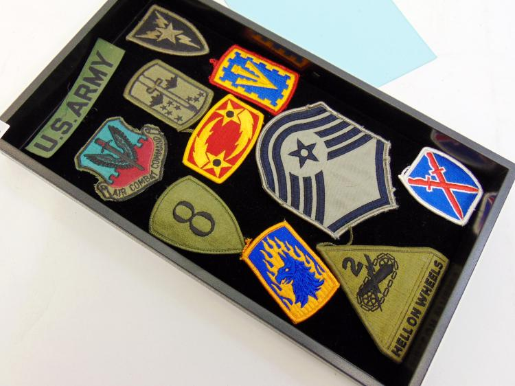 Assorted Military Patch Lot Of 11 Including Hell On Wheels Patch