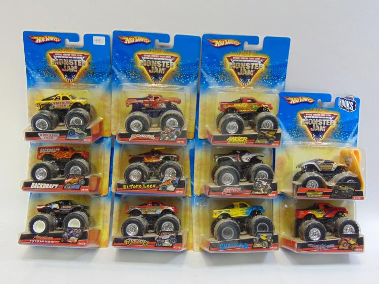 Mattel Hot Wheels Monster Jam Toy Car Lot Of 11