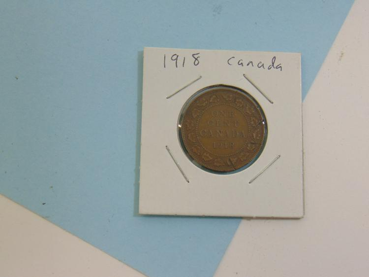 Lot 49: 1918 Canadian King George Copper Penny