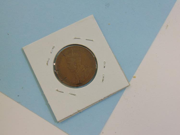 1918 Canadian King George Copper Penny