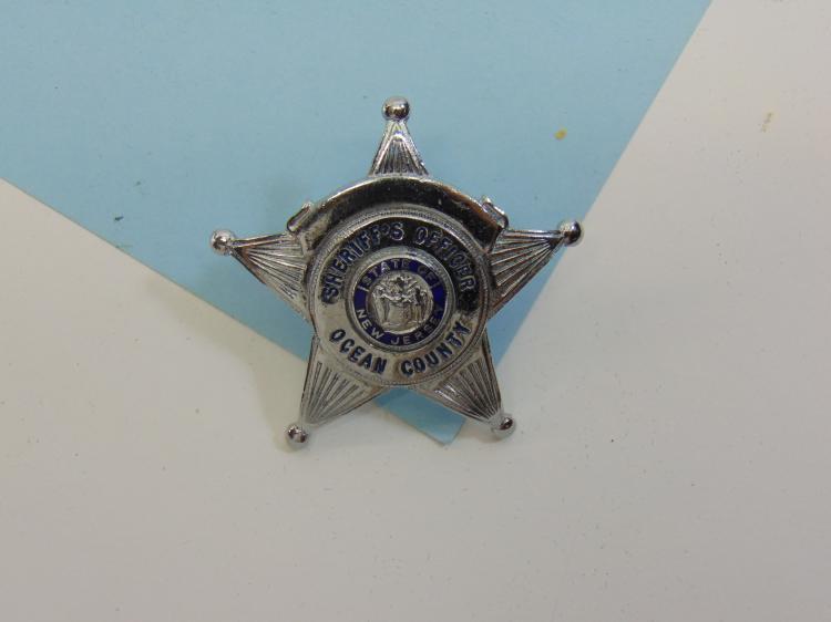 NJ Ocean City Sheriffs Officer Hat Badge