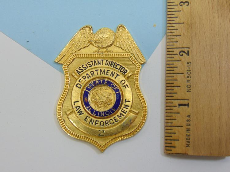 Illinois Asst Director Dept Law Enforcement Badge