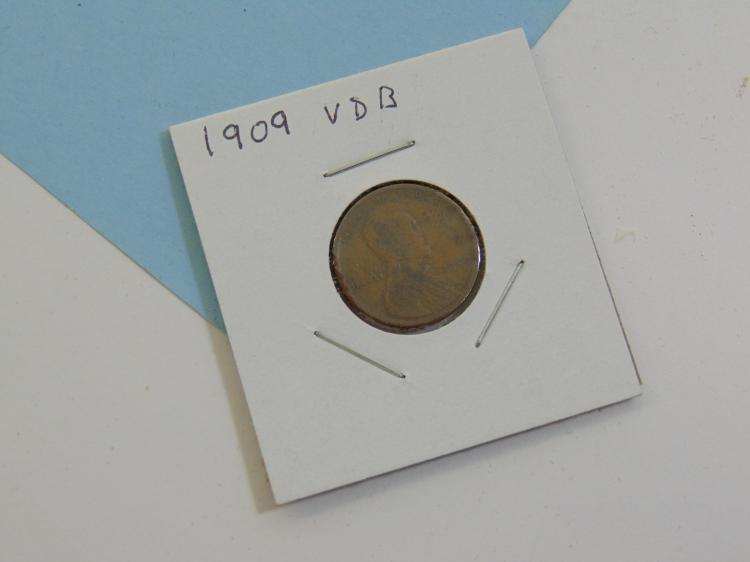 Lot 55: 1909 VDB Wheat Cent Carded US Coin