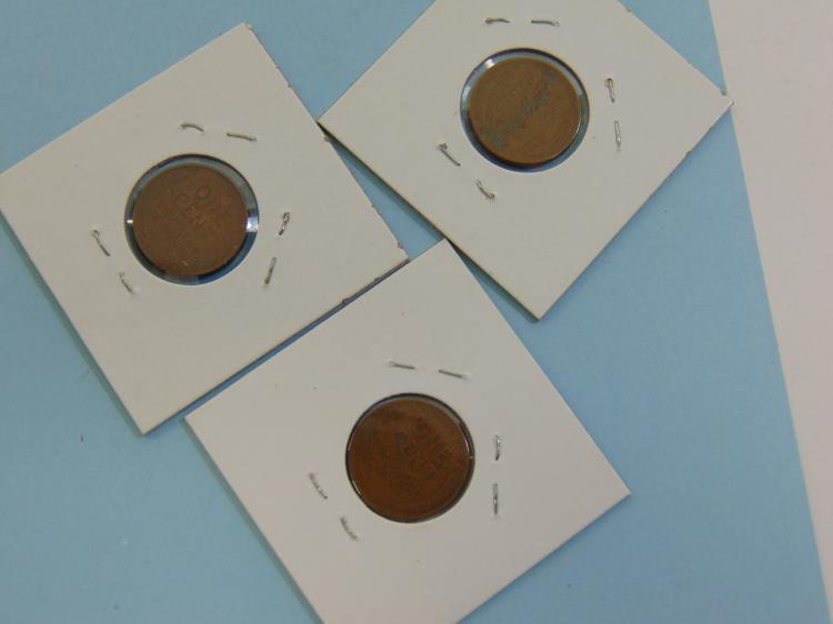 Lot 61: 1926S 1928D & 1931D Wheat Cent Coin Lot