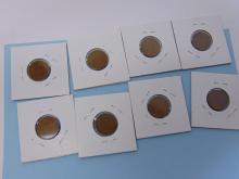 Lot 63: Assorted Wheat Cent US Carded Coin Lot Of 8