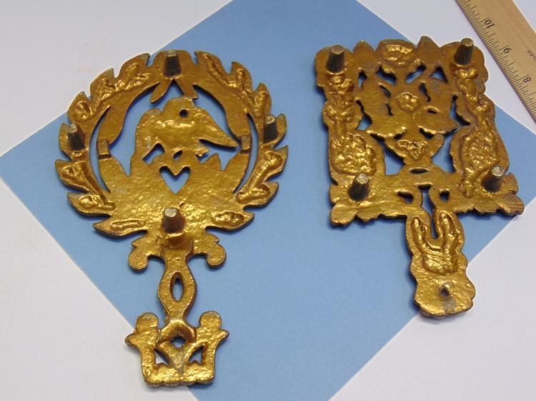 Lot 67: Vintage Brass Ornamental Trivet Lot Of 2