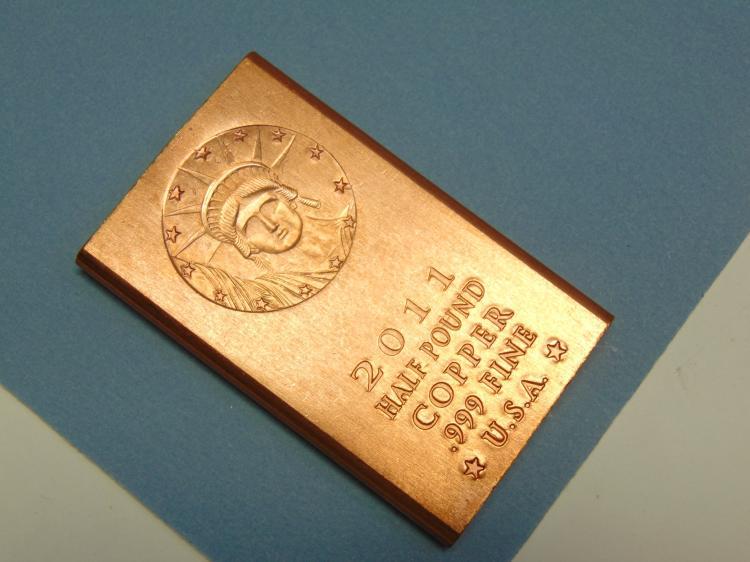 2011 Half Pound 999 Fine Copper Ingot