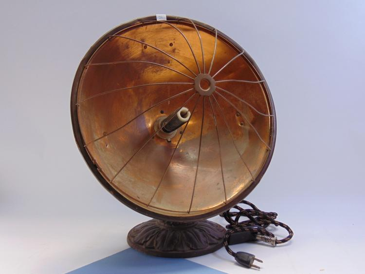 Lot 71: Vintage Universal Copper Electric Radiant Heater